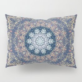 Blue's Golden Mandala Pillow Sham
