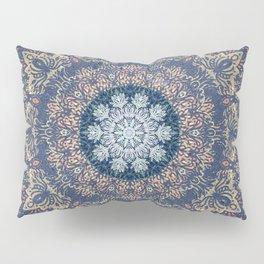 Blue's Golden Mandala Pillow Sham