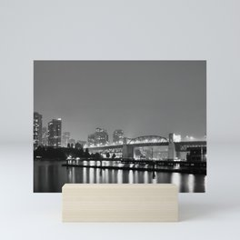 Vancouver in the Haze BW Mini Art Print