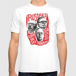Russkies-Russian composers T-shirt