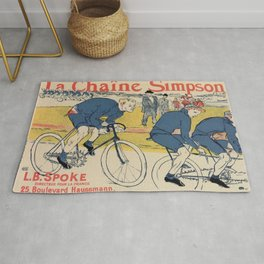 Toulouse-Lautrec vintage cycling ad Rug