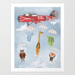 adventure skies Art Print