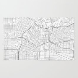 Los Angeles, United States Minimalist Map Rug