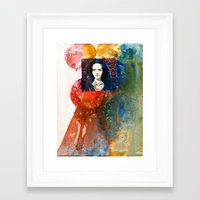 lucy Framed Art Prints featuring Lucy by Ecsentrik