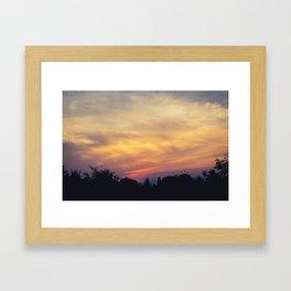 Kanchanaburi Sunset Framed Art Print