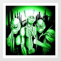 ninja turtles Art Prints featuring  Ninja Turtles by shannon's art space