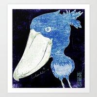 Shoebill stork 2 Art Print
