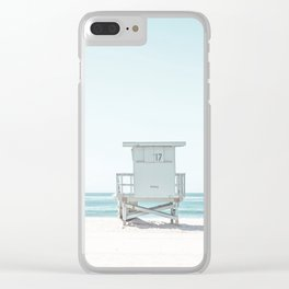 Lifeguard Beach Hut Clear iPhone Case