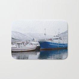 Boats in Tromso Bath Mat