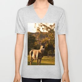 Geometric Deer Unisex V-Neck