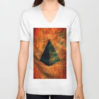egyptian V-neck T-shirts featuring Egyptian wind by  Agostino Lo Coco