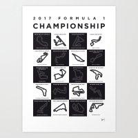 My F1 SEASON 2017 Race Track Minimal Poster Art Print