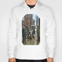 washington Hoodies featuring Rainy Day, Washington, D.C. by Brown Eyed Lady
