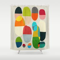 pills Shower Curtains featuring Jagged little pills by Picomodi