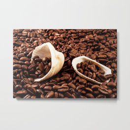 Coffee and mussel Metal Print