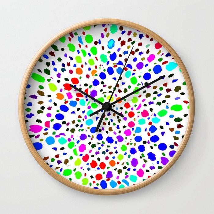 White Psicodelia Wall Clock