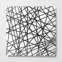 Lazer Dance Black on White Metal Print