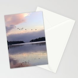 Uplifting II: Geese Rise at Dawn on Lake George Stationery Cards