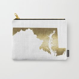 maryland gold foil state map Carry-All Pouch
