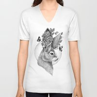 hare V-neck T-shirts featuring HARE by Thiago Bianchini