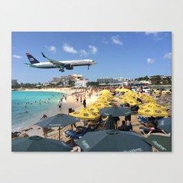 Landing at Maho Beach Canvas Print