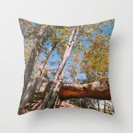 Princess Arch at Red River Gorge Throw Pillow