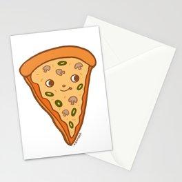 Veggie Pizza Slice - cute mushroom and olive vegetarian slice Stationery Cards