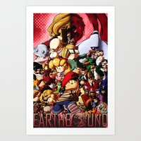 earthbound Art Prints featuring EarthBound - Super NES Love by DA Productions