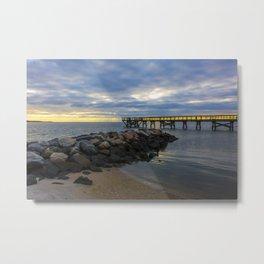 Yorktown Fishing Pier at Sunrise Metal Print