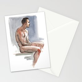 JORDAN, Nude Male by Frank-Joseph Stationery Cards