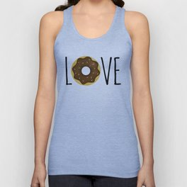 I Love Donuts Unisex Tank Top