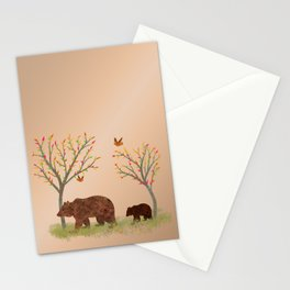 Walk In The Woods With Mama Bear Stationery Cards