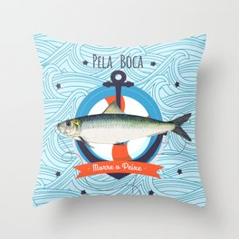 Sardine Throw Pillow