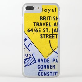 Streets of London 2 Clear iPhone Case