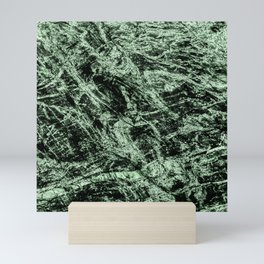 Abstract nature green camouflage Mini Art Print