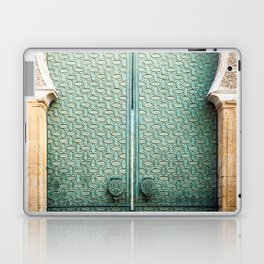 Door of Cathedral Mezquita of Cordoba, Andalucia Laptop & iPad Skin