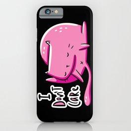 Don't Care Cat iPhone Case