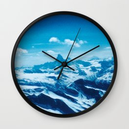 Winter Wonderland up in the Mountains #1 #art #society6 Wall Clock