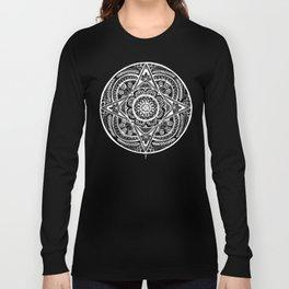 New Year Mandala Inverse Long Sleeve T-shirt