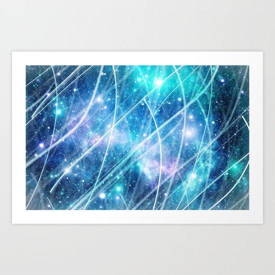 Gundam Retro Space 3 - No text Art Print