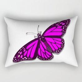 Pink Monarch Butterfly Rectangular Pillow