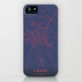 Laval, France - Neon iPhone Case