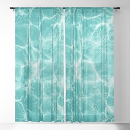 Pool Dream #1 #water #decor #art #society6 Sheer Curtain