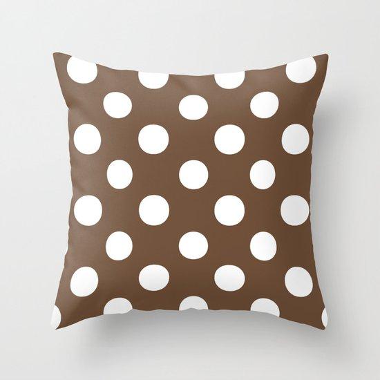 Polka Dots (White/Coffee) by 10813apparel