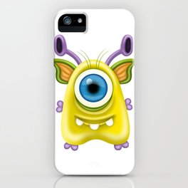 A raster illustration of a monster. iPhone Case