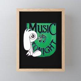 Music Bunny Framed Mini Art Print
