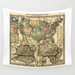 Mitchell's Military Map of the United States (1861) Wall Tapestry