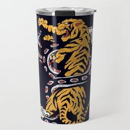 Tiger vs Snake Travel Mug