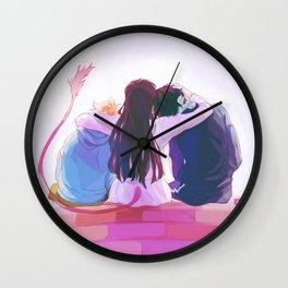 hiyori and her boys Wall Clock