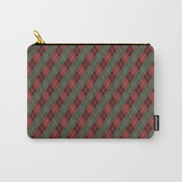 Red Green Plaid Gingham Christmas Holiday Carry-All Pouch